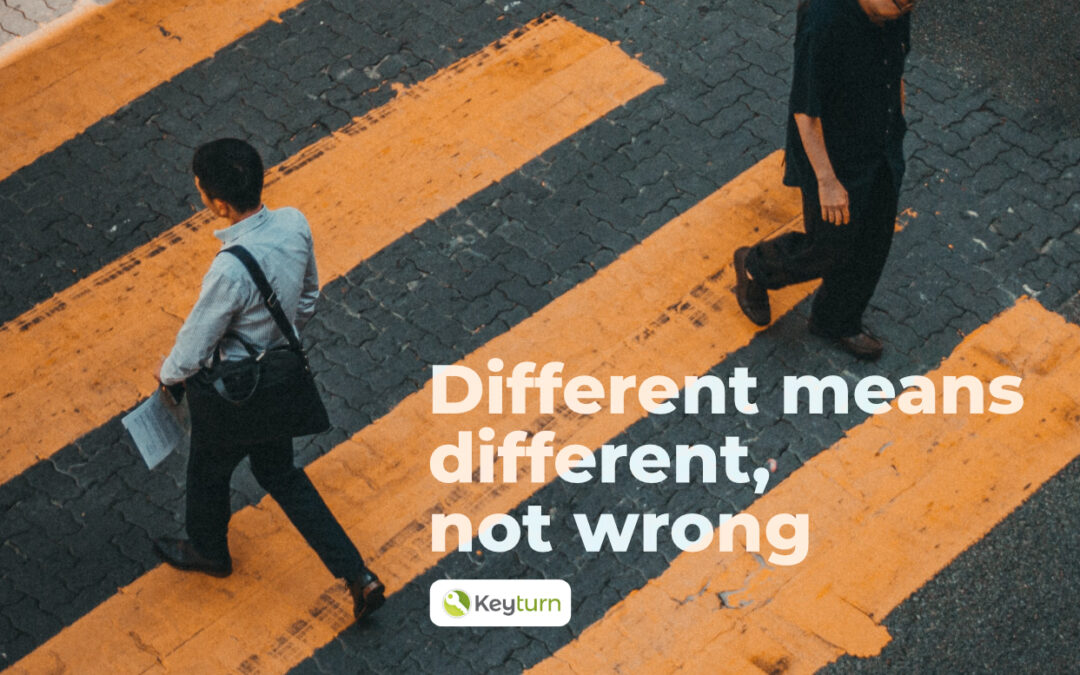 Different equals different, not wrong